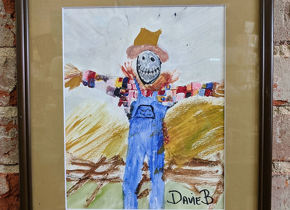 Acrylic Painting - Scarecrow in a Field