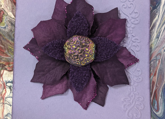 Purple Flower Pins