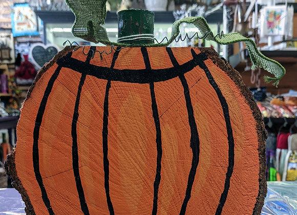 Fall Decor - Large Wood Slice Pumpkins