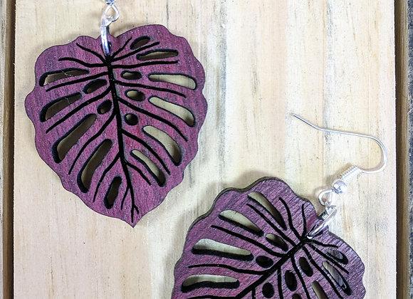 Purple Heart Wood Earrings