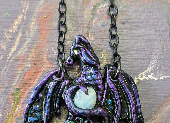 Jewelry - Dragon Necklace with Moonstone