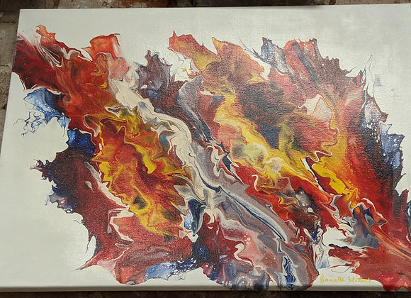 Fire Pour Painting