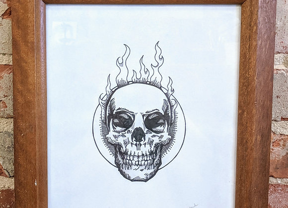 Pen and Ink Skull