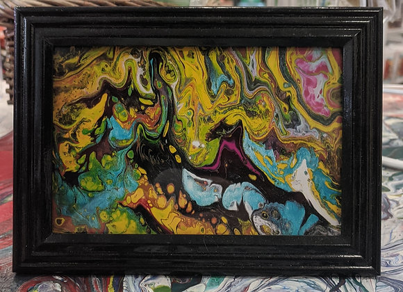 Desk Sized Fluid Art Painting