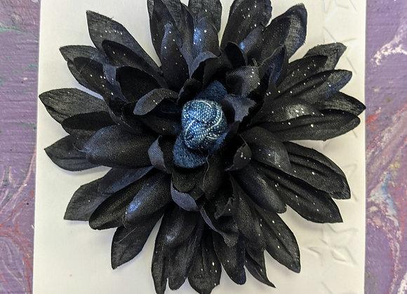 Accessories - Black Flower Pins