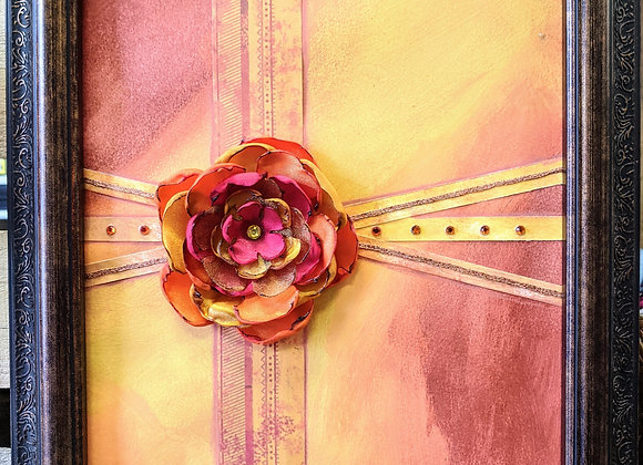 Fall Decor - Flower Collage Painting Wall Art