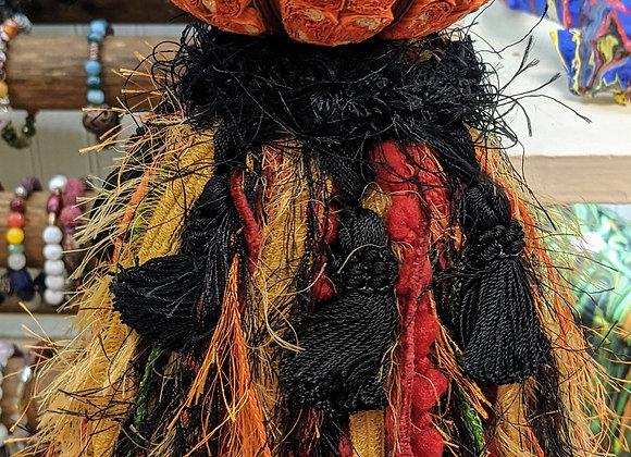 Fall Decor - Pumpkin Fabric Tassel