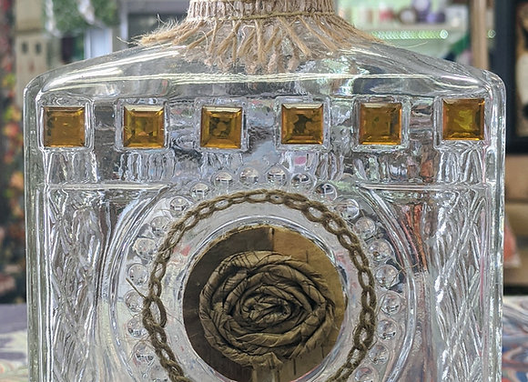 Home Decor - Amber Bottle Art