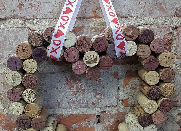 Wine Cork Heart Wreaths