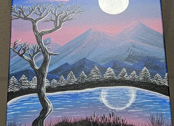 Acrylic Painting - Cold Winter Night Wall Art