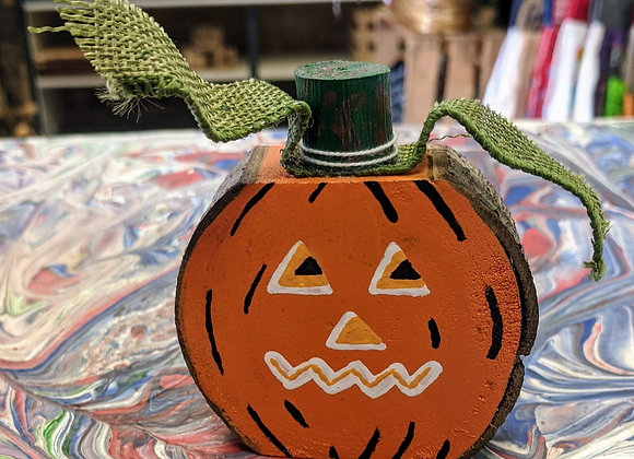 Fall Decor - Tiny Wood Slice Pumpkins