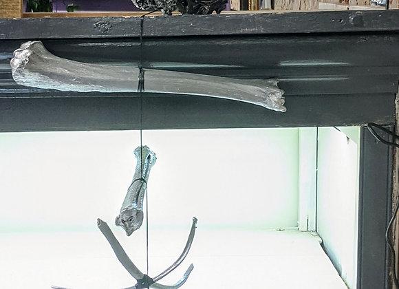Fluid Art - Silver Leshun Mobile - Skull and Bones -Home Decor