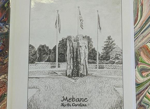 Veteran's Memorial Garden Fountain Mebane, NC Sketch Print