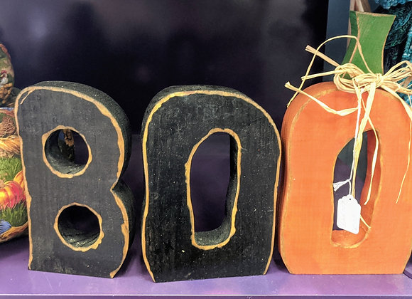 Fall Decor - BOO Wooden Letter Sign
