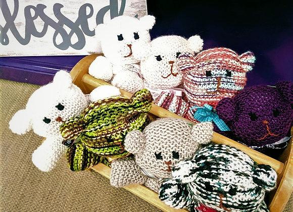 Toys - Knit Stuffed Teddy Bear