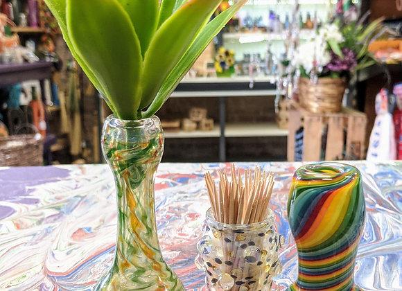 Small Glass Vases - Mother's Flower Holders