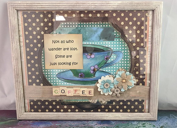 Some are Just Looking for Coffee Mixed Media Collage