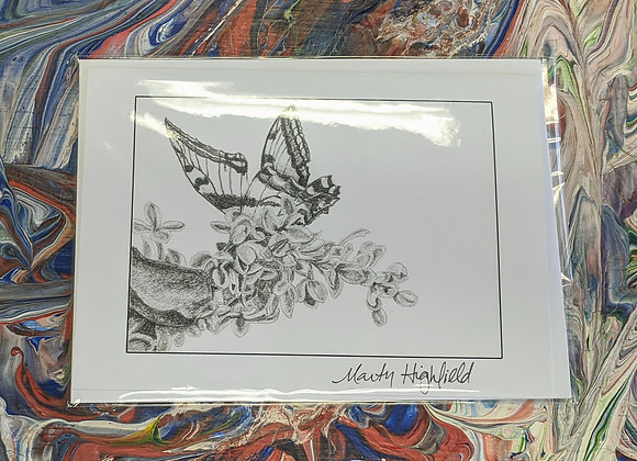 Butterfly Sketch Print