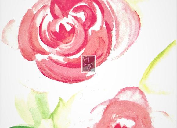 Sorbet Peony Watercolor
