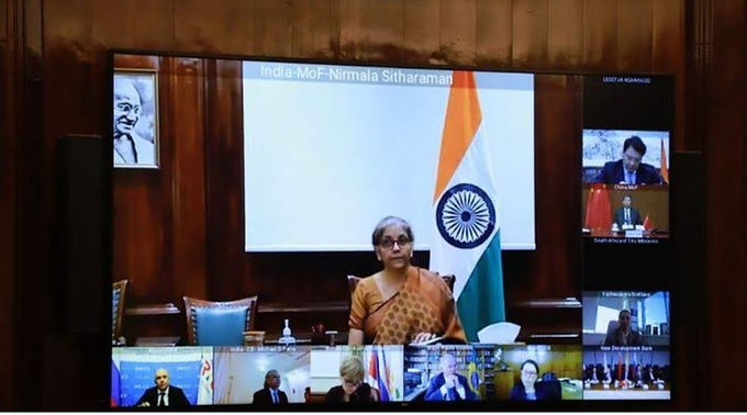 FM Sitharaman attends 1st BRICS Finance Ministers and Central Bank Governors Meeting