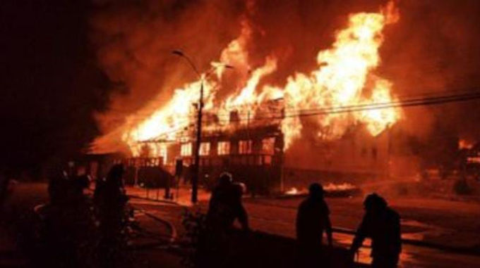 """""""Police shooting sets off fiery protests in southern Chile"""""""