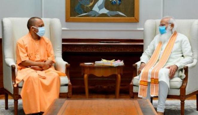 BJP top brass talk strategy after Yogi-Modi meet