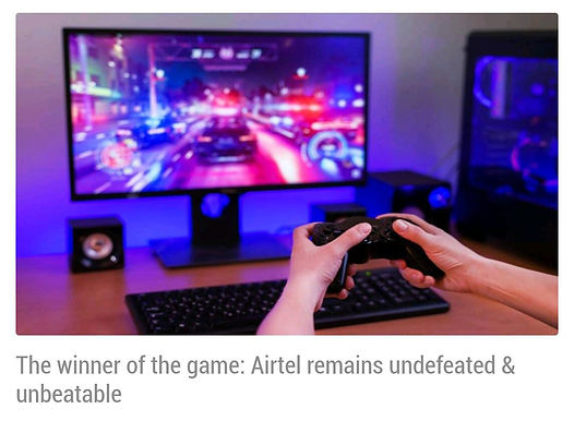 Airtel dominates in gaming, download speed