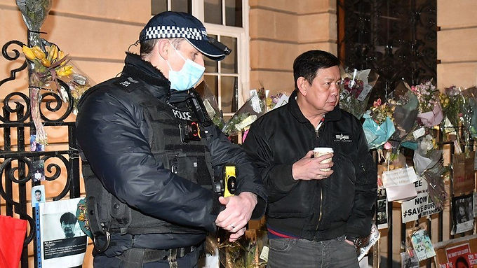 """""""Myanmar envoy to London says military seized embassy in 'coup'."""""""