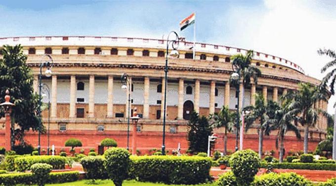 """Heard in Parliament during Budget speech: 'Adani, Adani"""
