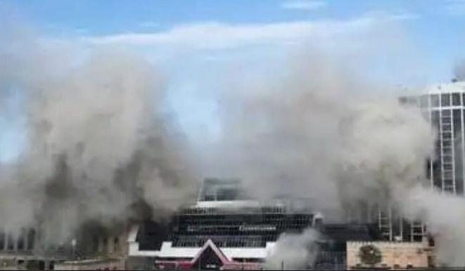 """Trump's failed Atlantic City casino demolished before cheering crowd"""