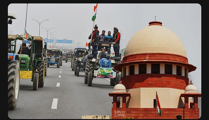 """""""We Will Not Pass Orders, You Withdraw It"""":Supreme Court Allows Centre To Withdraw Plea To Restrain Farmers' Tractor Rally On Republic Day"""
