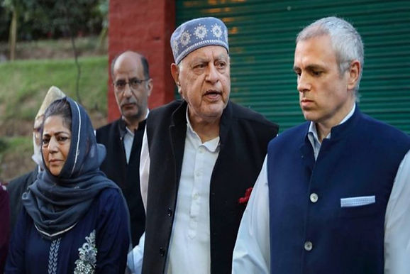 Tarigami, Mehbooba, Farooq Attending a meeting with Prime Minister Modi and pursuing the Gupkar Alliance agenda