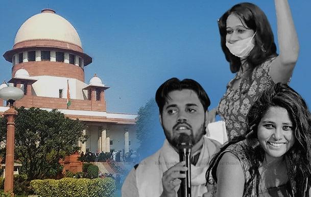 Delhi Police record request in Supreme Court against Delhi HC request giving bail to Asif Iqbal Tanha, Devangana Kalita, Natasha Narwal