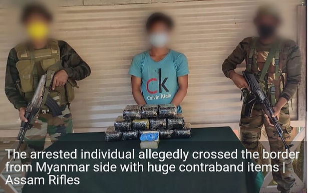 Manipur: Drugs worth Rs 6.5 crore seized along Indo-Myanmar border