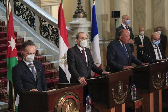 """""""Egypt, Germany, France, Jordan meet to revive Mideast talks"""""""