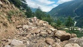 A 100-metre stretch of road connecting Paonta Sahib with Shillai-Hatkoti has caved in following a massive landslide in Himachal Pradesh's Sirmaur district