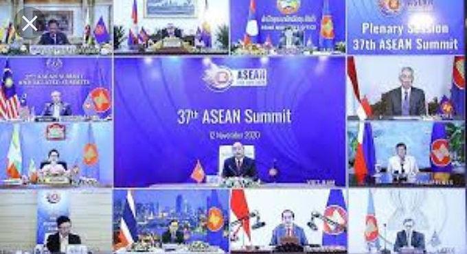 ASEAN SUMMIT BEGINS ONLINE MEETINGS WITH REGIONAL LEADERS