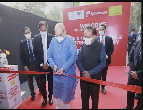 Home Minister Amit Shah inaugurates mobile RT-PCR Lab in New Delhi