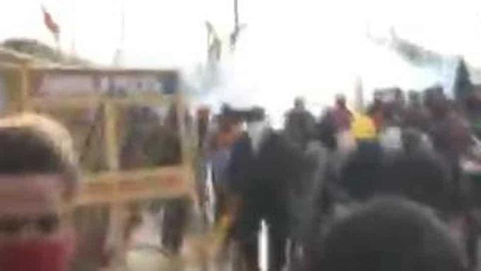 Haryana cops use water cannons, tear gas to disperse farmers at Shambhu border