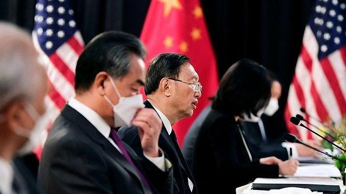 """""""US and China trade angry words at high-level Alaska talks"""""""