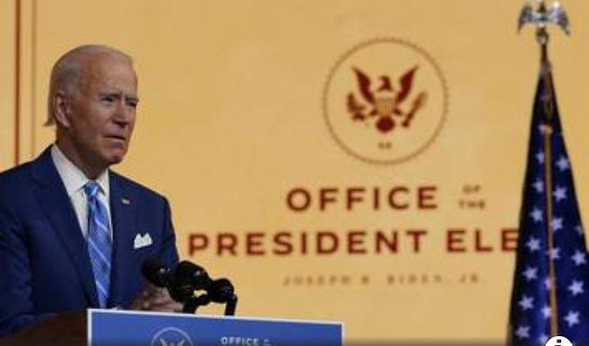 WERE AT WAR WITH THE VIRUS NOT EACG OTHER BIDEN IN THANKSGIVING ADDRESS