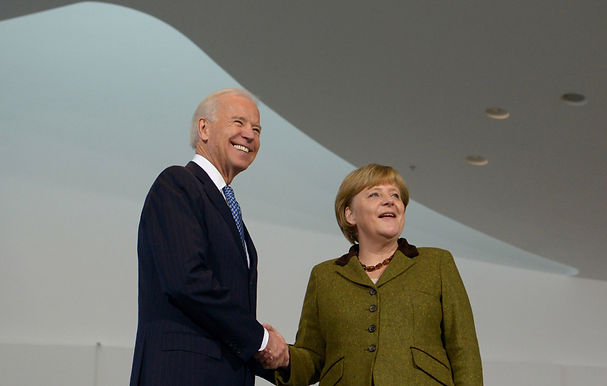 In a White House meeting, Biden and Merkel pledged to protect against Russian aggression