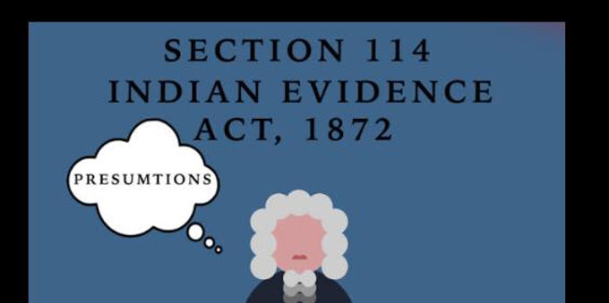 114 evidence act- adverse inference can be drawn against party who does not appear in person to depose: Supreme Court