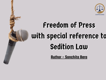 FREEDOM OF PRESS WITH SPECIAL REFERENCE TO SEDITION LAW