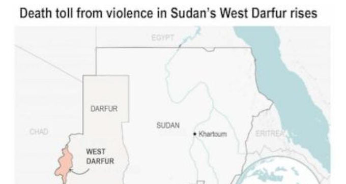 """""""Death toll from violence in Sudan's West Darfur rises to 83"""""""