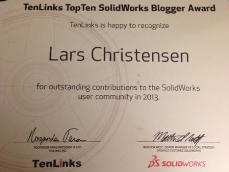 cadcamstuff Wins TenLinks Top Ten Blogger Award