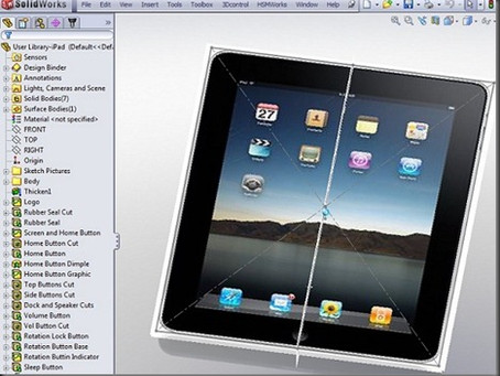 HSMWorks verifies an Ipad inside Solidworks