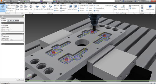 Inventor HSM Pro Adaptive Milling