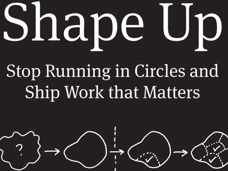 Shape Up by Ryan Singer (Basecamp) ~ 5 minute read