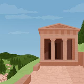 La Grece, un temple grec